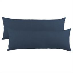 Kissenbezug Seitenschläferkissen Stillkissen Mako-Baumwolle Jersey Doppelpack 40x200  BeNature dunkelblau