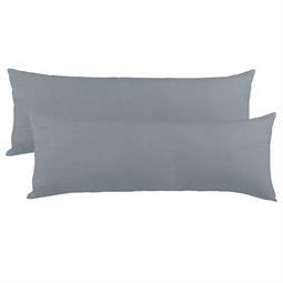 Kissenbezug Seitenschläferkissen Stillkissen Mako-Baumwolle Jersey Doppelpack 40x200  BeNature dunkelgrau