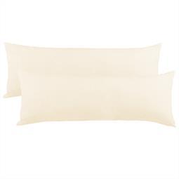 Kissenbezug Seitenschläferkissen Stillkissen Mako-Baumwolle Jersey Doppelpack 40x120 BeNature natur