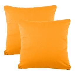 Kissenbezüge Kissenhülle Kissen Mako-Baumwolle Jersey Doppelpack 50x50 BeNature orange