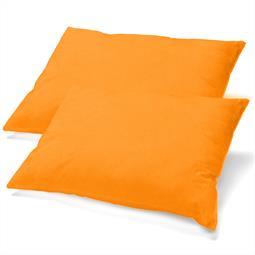 Kissenbezüge Kissenhülle Kissen Mako-Baumwolle Jersey Doppelpack 40x80 BeNature orange