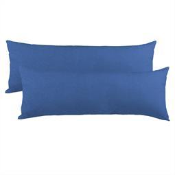 Kissenbezug Seitenschläferkissen Stillkissen Mako-Baumwolle Jersey Doppelpack 40x120 BeNature royalblau
