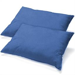 Kissenbezüge Kissenhülle Kissen Mako-Baumwolle Jersey Doppelpack 40x80 BeNature royalblau