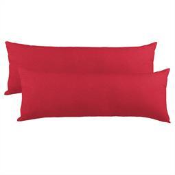 Kissenbezug Seitenschläferkissen Stillkissen Mako-Baumwolle Jersey Doppelpack 40x200  BeNature rubinrot