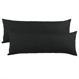 Kissenbezug Seitenschläferkissen Stillkissen Mako-Baumwolle Jersey Doppelpack 40x120 BeNature schwarz
