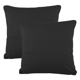Kissenbezüge Kissenhülle Kissen Mako-Baumwolle Jersey Doppelpack 50x50 BeNature schwarz