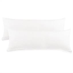 Kissenbezug Seitenschläferkissen Stillkissen Mako-Baumwolle Jersey Doppelpack 40x120 BeNature weiß