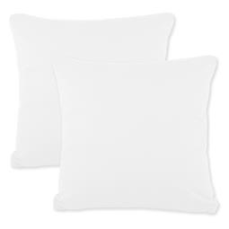 Kissenbezüge Kissenhülle Kissen Mako-Baumwolle Jersey Doppelpack 50x50 BeNature weiß