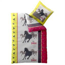 Kinder Bettwäsche Baumwolle Biber Kids 135x200 my Horse