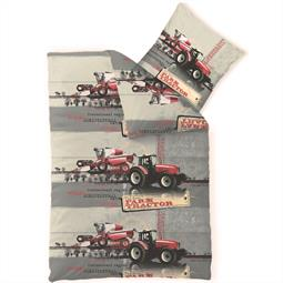 Kinder Bettwäsche Baumwolle Biber Kids 135x200 Traktor