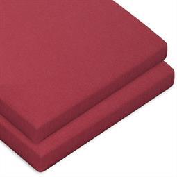 Topper Spannbettlaken Baumwolle Casca Doppelpack bordeaux rot 90x200-100x220