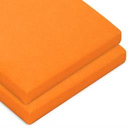 Topper Spannbettlaken Baumwolle Casca Doppelpack orange 90x200-100x220