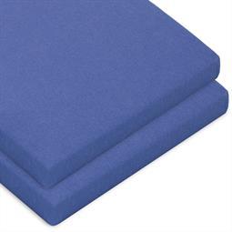 Topper Spannbettlaken Baumwolle Casca Doppelpack royal blau 90x200-100x220