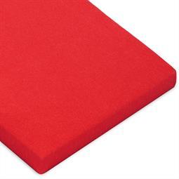 Topper Spannbettlaken Baumwolle Casca rubinrot 120x200-130x220