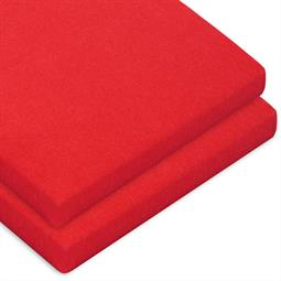 Topper Spannbettlaken Baumwolle Casca Doppelpack rubinrot 90x200-100x220