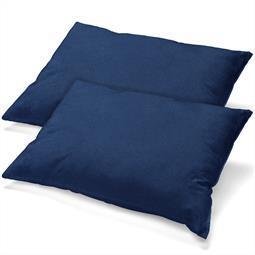 Kissenbezug Baumwolle Jersey Classic Line Doppelpack 40x80 dunkelblau