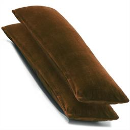 CelinaTex Kissenbezug Seitenschläferkissen Coral-Fleece flauschig Comfortable Doppelpack 40x145 braun