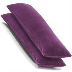 Kissenbezug Seitenschläferkissen Coral-Fleece Doppelpack 40x120 lila Comfortable