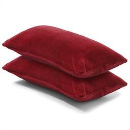 Kissenbezug Coral-Fleece Doppelpack 40x80 bordeaux Comfortable