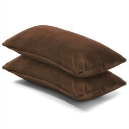 Kissenbezug Coral-Fleece Doppelpack 40x80 dunkelbraun Comfortable