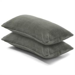 Kissenbezug Coral-Fleece Doppelpack 40x80 grau Comfortable