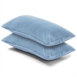 Kissenbezug Coral-Fleece Doppelpack 40x80 hellblau Comfortable