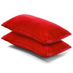Kissenbezug Coral-Fleece Doppelpack 40x80 rot Comfortable