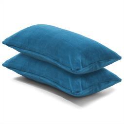 Kissenbezug Coral-Fleece Doppelpack 40x80 blau Comfortable