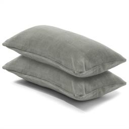 Kissenbezug Coral-Fleece Doppelpack 40x80 silber Comfortable