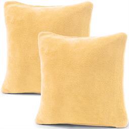 Kissenbezug Coral-Fleece Doppelpack 80x80 beige Comfortable