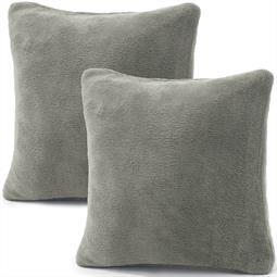 Kissenbezug Coral-Fleece Doppelpack 80x80 silber Comfortable