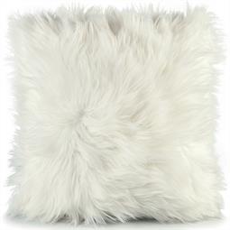Dekokissen Schaffell-Imitat 45x45cm weiß Cuddly