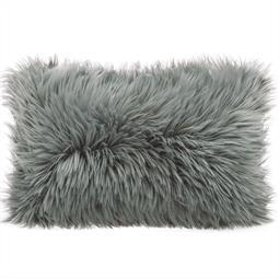 Dekokissen Schaffell-Imitat 40x60cm grau Cuddly