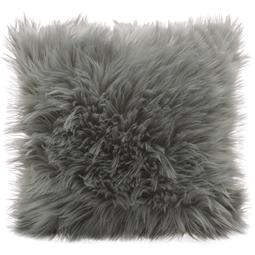 CelinaTex Dekokissen Cuddly Fell-Imitat / Nicki 45x45cm grau