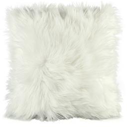 CelinaTex Dekokissen Cuddly Fell-Imitat / Nicki 45x45cm weiß