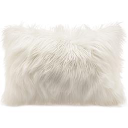 CelinaTex Dekokissen Cuddly Fell-Imitat / Nicki 40x60cm weiß