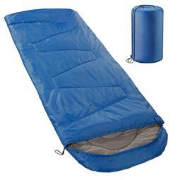 aqua-textil Deckenschlafsack Mikrofaser Kapuze Outdoor XXL blau
