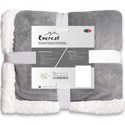 CelinaTex Kuscheldecke Coral-Fleece Everest 200x220 cm silber