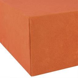 Spannbettlaken Wasserbett Boxspringbett Baumwolle Doppelpack 90x200-100x220 Exclusiv terrakotta