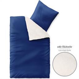 Fantasia Bettwäsche Lambskin 135x200 Sandy blau