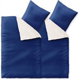 Fantasia Bettwäsche Lambskin Doppelpack 155x220 Sandy blau
