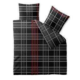 CelinaTex Bettwäsche Garnitur 200x200 Baumwolle Reißverschluss Fashion Bianca schwarz weiß rot