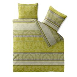 CelinaTex Bettwäsche Garnitur 200x220 Baumwolle Reißverschluss Fashion Carrie hell grün beige