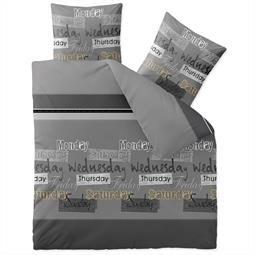 CelinaTex Bettwäsche Garnitur 200x220 Baumwolle Reißverschluss Fashion Crazy grau schwarz weiß