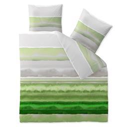 CelinaTex Bettwäsche Garnitur 200x220 Baumwolle Reißverschluss Fashion Dorie grün grau weiß