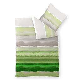 CelinaTex Bettwäsche Garnitur 155x200 Baumwolle Reißverschluss Fashion Dorie grün grau weiß