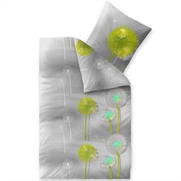Bettwäsche Garnitur 135x200 Baumwolle Reißverschluss Fashion Gisele weiß grau