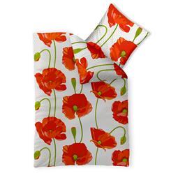 CelinaTex Bettwäsche Garnitur 155x220 Baumwolle Reißverschluss Fashion Isabella rot weiß
