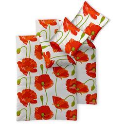 CelinaTex Bettwäsche Garnitur 155x220 Baumwolle Reißverschluss 4 teilig Fashion Isabella rot weiß