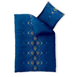 CelinaTex Bettwäsche Garnitur 155x220 Baumwolle Reißverschluss Fashion Leah türkis blau gold